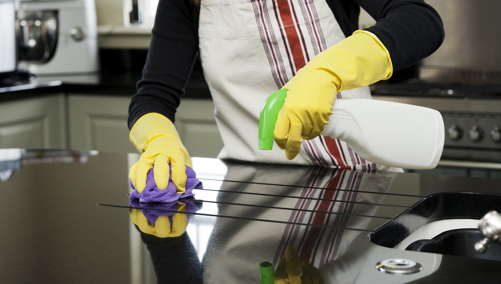 counter cleaning